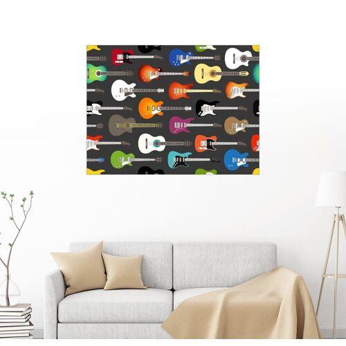 Posterlounge Wandbild, Gitarren-Muster
