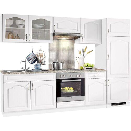 wiho Küchen Küchenzeile »Linz«, ohne E-Geräte, Breite 270 cm, Weiß