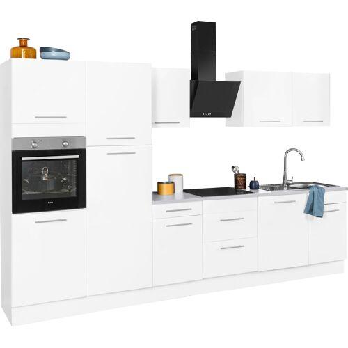 wiho Küchen Küchenzeile »Ela«, ohne E-Geräte, Breite 340 cm, weiß