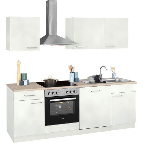 wiho Küchen Küchenzeile »Zell«, ohne E-Geräte, Breite 220 cm, weiß