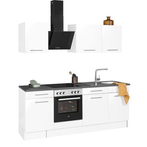 wiho Küchen Küchenzeile »Ela«, ohne E-Geräte, Breite 220 cm, weiß