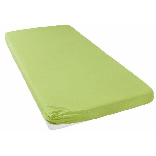 my home Spannbettlaken »Jersey«, , für Topper auf Boxspringbetten, grün
