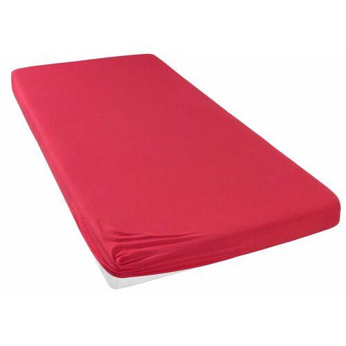 my home Spannbettlaken »Jersey«, , für Topper auf Boxspringbetten, rot
