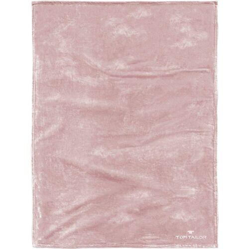 TOM TAILOR Wohndecke »Fleece Kuscheldecke 150x200 cm«, , rosa