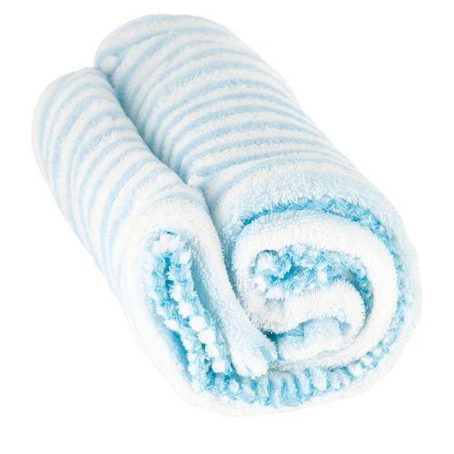 BIECO Krabbeldecke »Baby Kuscheldecke Fleece Blau Weiß Gestreift Flauschige Decke Kuscheldecke Baby Kinder Kuscheldecke Dünne Decke Flauschig Baby Blanket Kuscheldecke Kinder«,