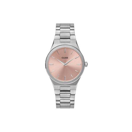 CLUSE Uhr »Uhr Vigoureux«, silber-rosa