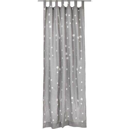 MyToys-COLLECTION Vorhang »Vorhang Set Eule, inkl. Bügelband, je 245 x 140 cm«, , grau