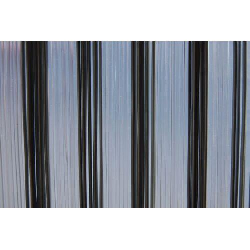 La Tenda Türvorhang »Türvorhang TRENTO 1 Raumteiler Fliegenvorhang Terrassentür Streifenvorhang grau transparent«, , individuell in Länge und Breite kürzbar
