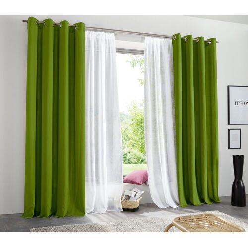 my home Vorhang »Raja«, , Ösen (2 Stück), blickdicht, grün