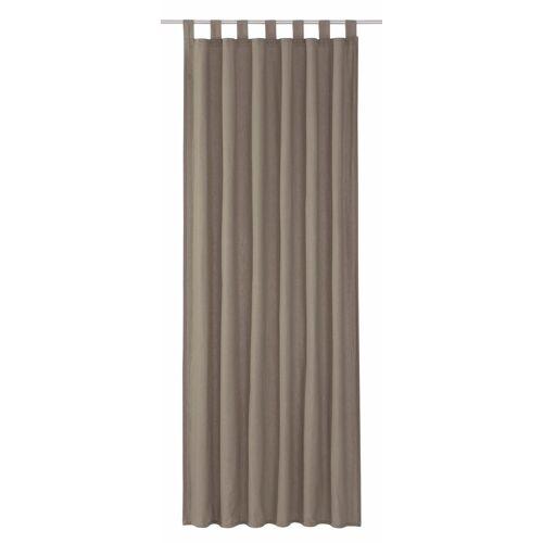 TOM TAILOR Vorhang »DOVE«, , Schlaufen (1 Stück), grau