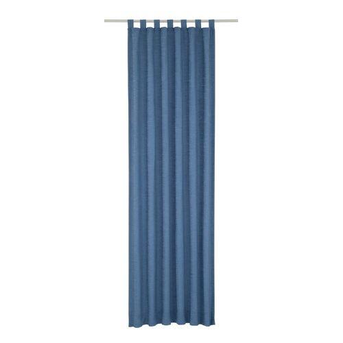 Wirth Vorhang »Toco-Uni«, , Schlaufen (1 Stück), blau