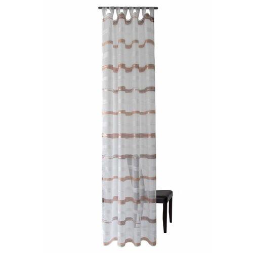 HOMING Vorhang »Sten«, , Schlaufen (1 Stück), HxB: 255x140, kupferfarben