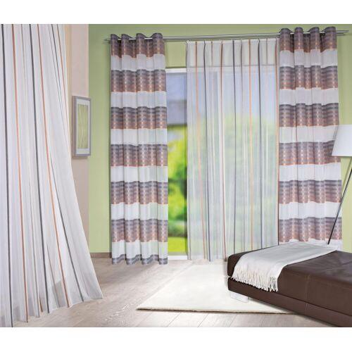 HOME WOHNIDEEN Vorhang »REPIER«, , Ösen (1 Stück), kupferfarben