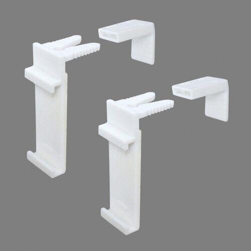 Good Life Sichtschutzzüge Ersatzhalter »Ena«, , Rollos, (Packung, 2-tlg), für Rollos und Doppel-Rollos zum Klemmen