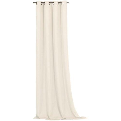 Weckbrodt Vorhang »Ronja«, , Ösen (1 Stück), abdunkelnd, creme