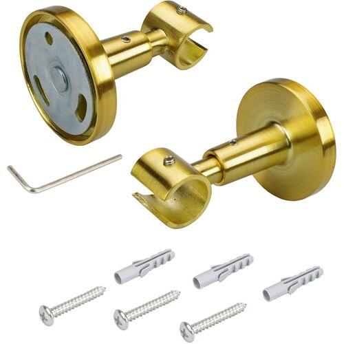 Liedeco Deckenträger für Gardinenstangen, , Gardinenstangen, (1-St), für Gardinenstangen Ø 16 mm, goldfarben-matt
