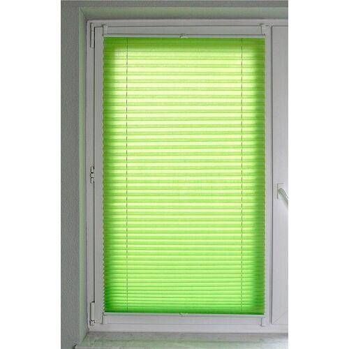 Kutti Plissee »Brisa«, , Lichtschutz, ohne Bohren, verspannt, Lichtschutz, grün