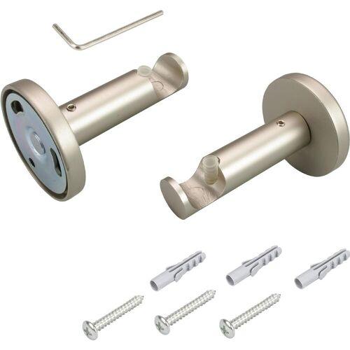 Liedeco Gardinenstangenhalter, , Gardinenstangen, (1-St), für Gardinenstangen Ø 16 mm, chromfarben