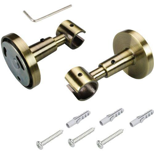 Liedeco Deckenträger für Gardinenstangen, , Gardinenstangen, (1-St), für Gardinenstangen Ø 16 mm, messingfarben-antik