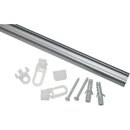 GARDINIA Gardinenschiene »Aluminiumschiene«, , Serie Aluminiumschiene Ø 13 mm, aluminiumfarben