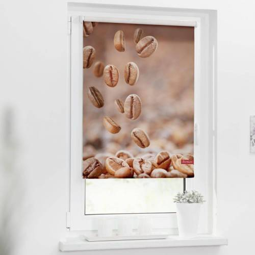 LICHTBLICK ORIGINAL Seitenzugrollo »Rollo Klemmfix, ohne Bohren, blickdicht, Kaffee - Braun«, , blickdicht, freihängend