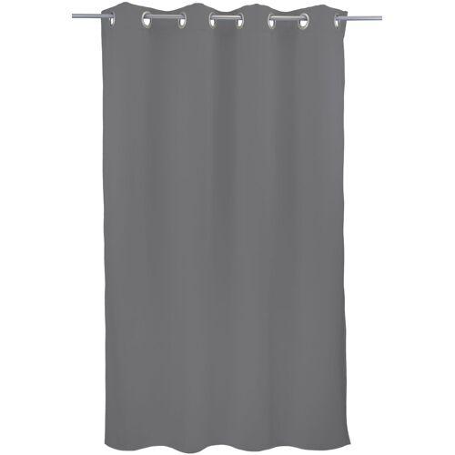"VHG Vorhang »Leon1«, , Ösen (1 Stück), Vorhang ""Leon"", , mit Ösen, grau"