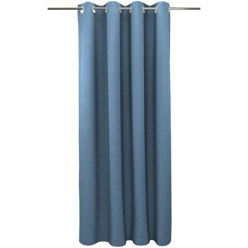 """VHG Vorhang »Una«, , Ösen (2 Stück), Vorhang """"Una"""", , mit Ösen, blau"""