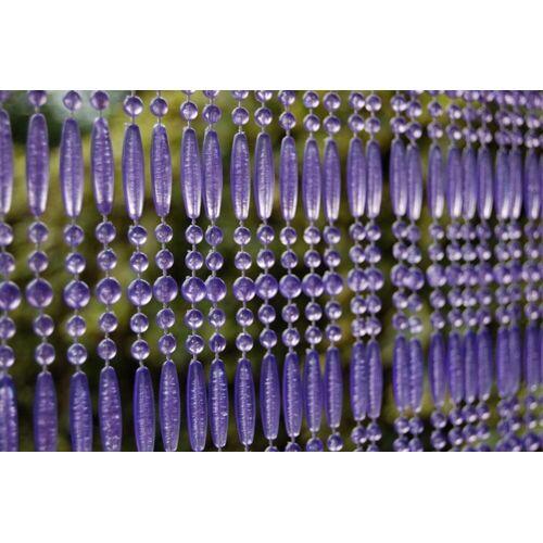 La Tenda Türvorhang »CASA Türvorhang FREJUS 4 Perlenvorhang Fliegenvorhang Terrasentürvorhang Balkonvorhang lila«, , individuell in der Länge kürzbar
