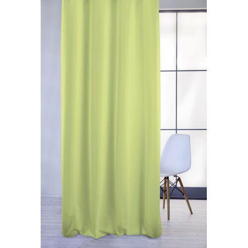 Apelt Vorhang »4362 Rips Uni«, , Ösen (1 Stück), Pflegeleichter Uni, apfelgrün