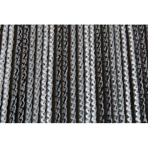 La Tenda Türvorhang »Türvorhang AREZZO 1 Raumteiler Fliegenvorhang Balkonvorhang Streifenvorhang schwarz weiß grau«, , individuell in Länge und Breite kürzbar