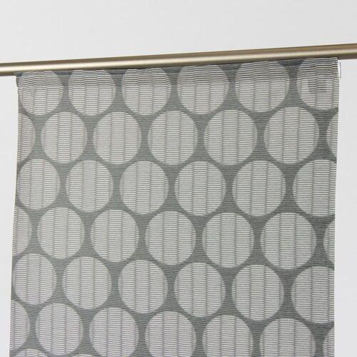 SCHÖNER LEBEN. Vorhang »Schiebevorhang Flächenvorhang Kreise Curl anthrazit weiß 245x60cm«, , (1 Stück)