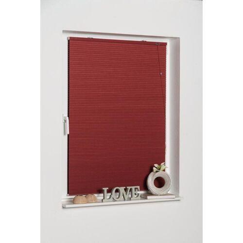 K-HOME Plissee »Klemmfix Wabenplissee«, , verdunkelnd, ohne Bohren, freihängend, rot