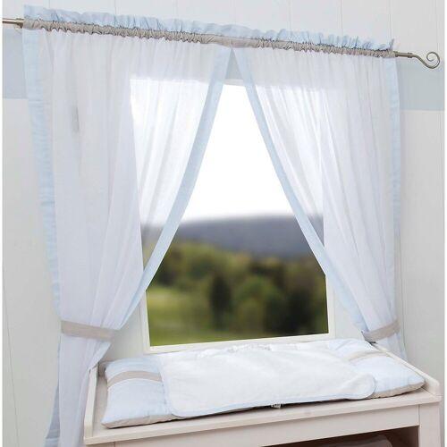 Be Be's Collection Vorhang »Vorhang Kleine Prinzessin, 150 x 100 cm (2 Schals)«, , hellblau