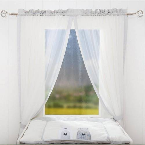 Be Be's Collection Vorhang »Vorhang Kleine Prinzessin, 150 x 100 cm (2 Schals)«, , ecru