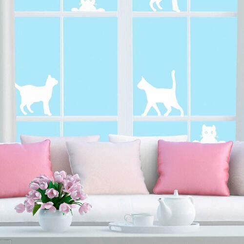 JOKA international Fensterfolie »Fenster Sichtschutzfolie Katze, Folie für Sichtschutz am Fenster 14294«, , Schutzfolie fürs Fenster