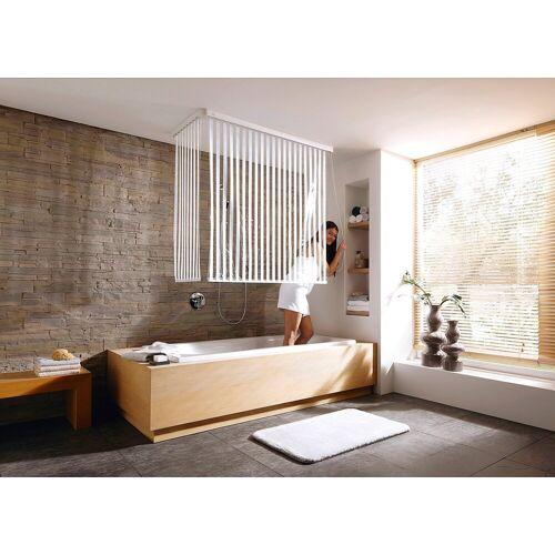 Kleine Wolke Eck-Duschrollo »Eck-Duschrollo« Breite 134 cm, ausziehbar, 134 x 240 cm, weiß