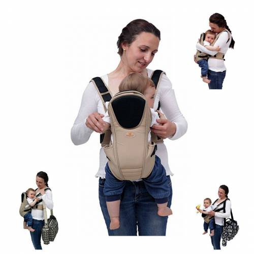 Moni Babytrage »Babytrage Kinetic 3 in 1«, Bauch- und Rückentrage von Geburt an bis 1 Jahr, beige