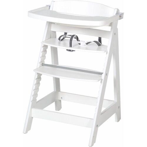 roba® Hochstuhl »Treppenhochstuhl, Sit Up Fun, weiß«, aus Holz
