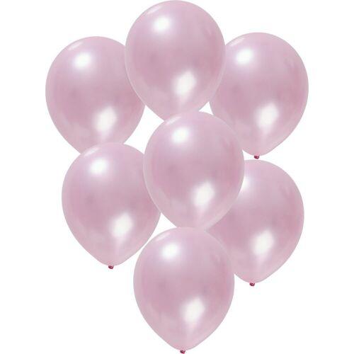 Folat Luftballon »Luftballons metallic rot 30 cm, 50 Stück«, rosa