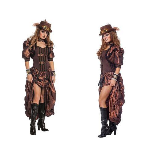 Wilbers Kostüm »Deluxe Retro Steampunk Kostüm Dame 36-46 - Steampunkkleid«