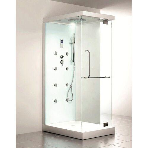 HOME DELUXE Dampfdusche »Design M«, BxT: 80x120 cm, Sicherheitsglas, 1-tlg., mit Radio und Dampfsauna