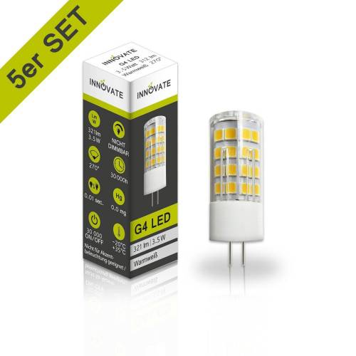 INNOVATE G4 LED-Leuchtmittel im 5er-Pack, weiss, Energieeffizienzklasse A+