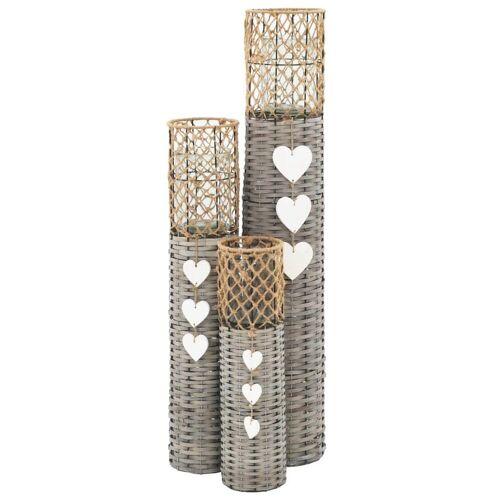 vidaXL Kerzenhalter »freistehende Kerzenhalter Laternen 3 Stk. Weide«