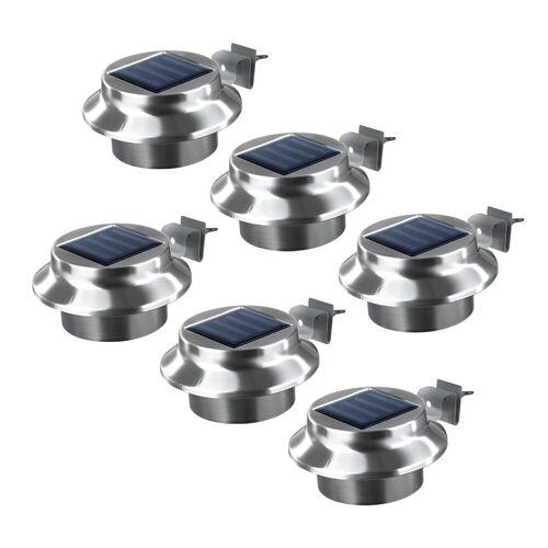 EASYmaxx Dachrinnenleuchte, Solar Dachrinnenleuchten 6er Set