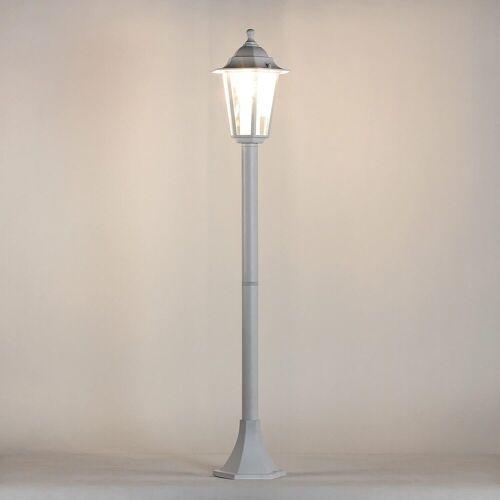Licht-Erlebnisse Außen-Stehlampe »PARIS Wegeleuchte Stehlampe Weiß rustikal E27 Hof Terrasse Lampe«