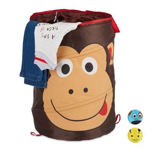 relaxdays Wäschekorb »Pop-Up Wäschekorb für Kinder«, Braun