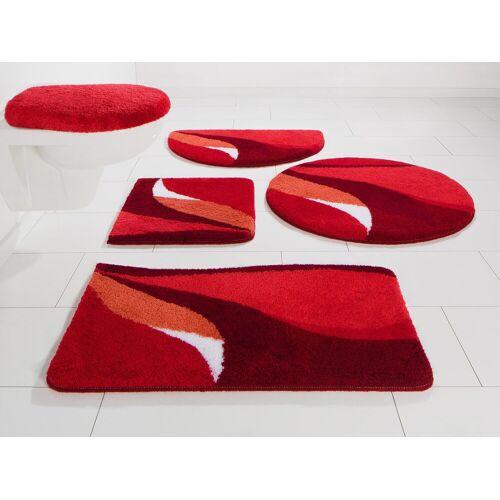 my home Badematte »Magnus« , Höhe 20 mm, strapazierfähig, rot