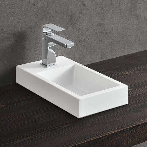 neu.haus Aufsatzwaschbecken, »Ypern« Waschbecken Handwaschbecken für Gäste WC 40x22cm weiß, weiß
