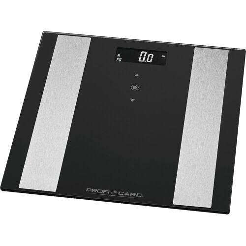ProfiCare Körper-Analyse-Waage »PC-PW 3007 FA«, 8 in 1 Glas-Analyse-Waage in 2 Farben, schwarz