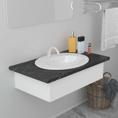 vidaXL Einbauwaschbecken »Einbauwaschbecken 51×45,5×19,5 cm Keramik Weiß«